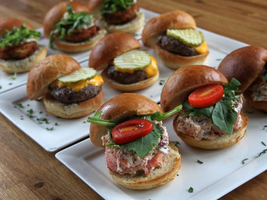 A trio of sliders from Reef & Barrell in Manasquan.