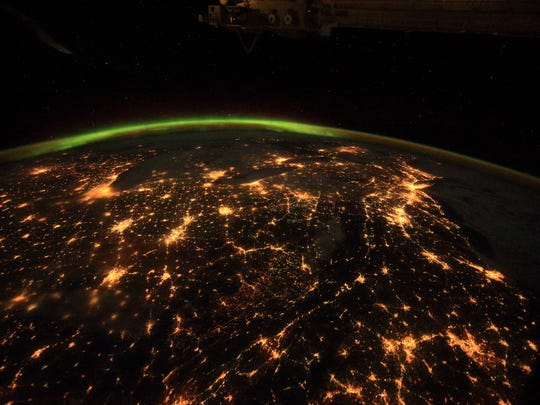 The entire Northeast of Canada, the United States and beyond, as seen from the International Space Station.
