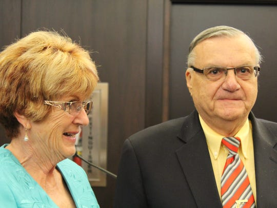 Councilwoman Thelda Williams and Sheriff Joes Arpaio