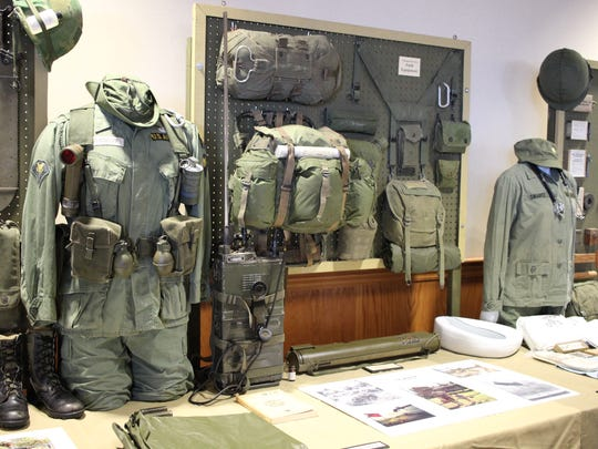 Authentic military memorabilia from the Vietnam War was on display during the veteran commemoration celebration at Camp Perry.