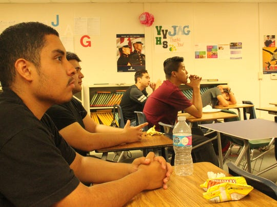 Edward Ponce's Jobs for American Grads class listened intently to a dentist detail what schooling he had to endure to make six figures.