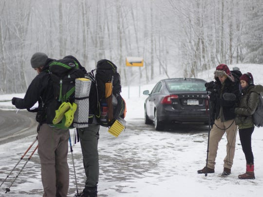 Crew of Georgia To Maine, documentary about hiking