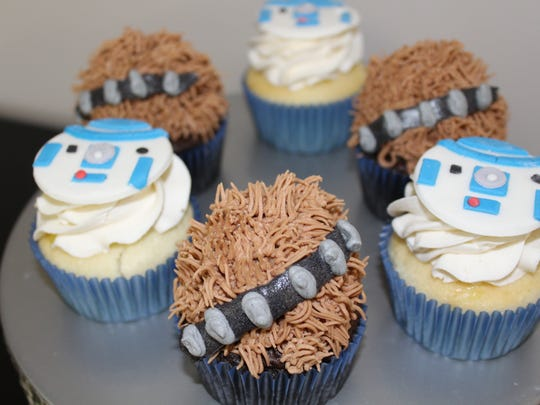 Stop by LadyCakes Bakery today fort a Chewbacca or R2D2 cupcake. May the Fourth be with you.