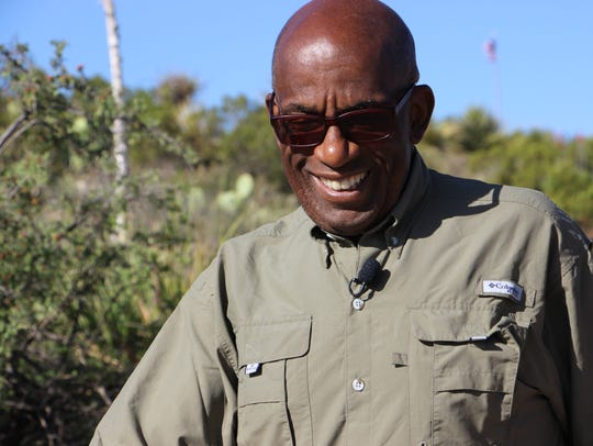Al Roker from the Today Show visits the Carlsbad Caverns.