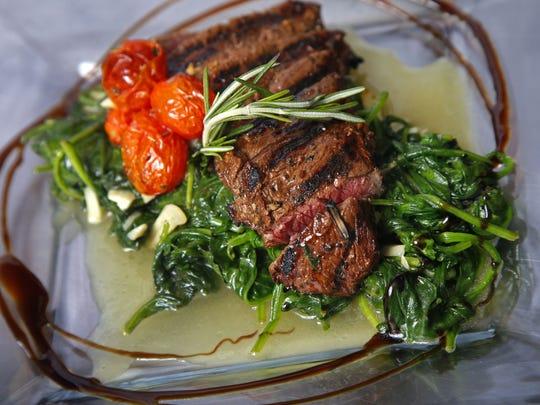 A steak prepared by Chef Lauren Van Liew, owner of Chef Covas Catering.