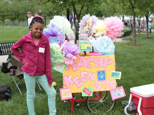 Morgen Morris is one of the three Morris sisters who have operated a Lemonade Day stand for several years.