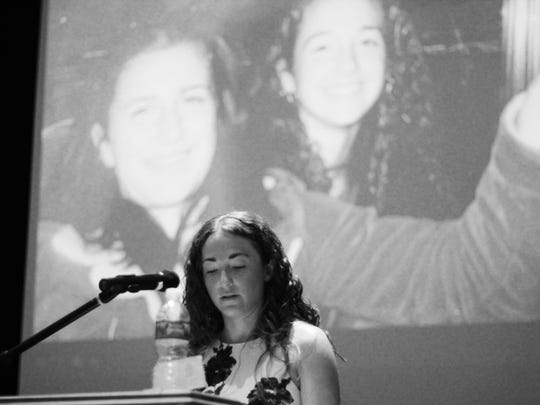 Alicia Cook, pictured, lost her cousin (behind her) to a drug overdose at 19.