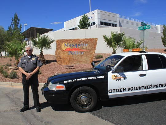Don Osgood was awarded Volunteer of the Year by the Mesquite Police Department.