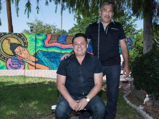 Tony Moya and his partner, Santiago Serna. Moya was upset after reading a document on Facebook signed by several Latino religious and community leaders that declares that traditional Hispanic family values mean marriage is between a man and a woman. Moya, who was raised Catholic, is gay. He and Serna have set a date for their wedding.