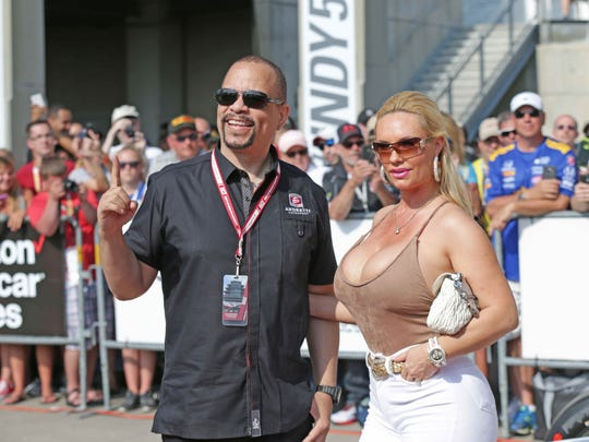 Ice-T and Coco walk the red carpet during the 100th running of the Indianapolis 500, at the Indianapolis Motor Speedway, Sunday May 29th, 2016.