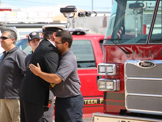Robert Brader says goodbye to members of the Eddy County