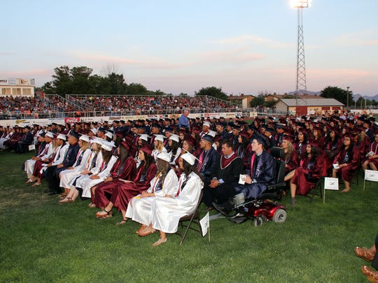 The graduating class of 2016 at Deming High School - 275 strong.