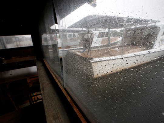 Heavy rains threaten docked boats Monday in St. Marks
