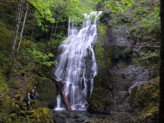 "Jerry Falls is the tallest among the seven ""Family Falls"" first documented by Salem's Maynard Drawson."