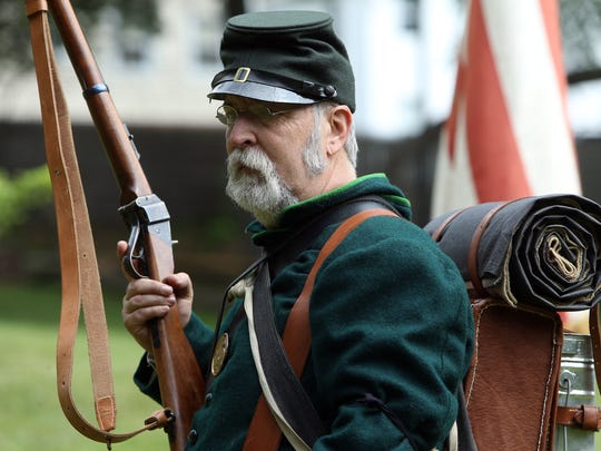 Randy Andrese of Emerson during the Historic Speedwell hosted annual ÔCivil War Weekend,Õ a two-day event sponsored by the Second New Jersey Brigade and the Morris County Park Commission. June 11, 2016, Morristown, NJ