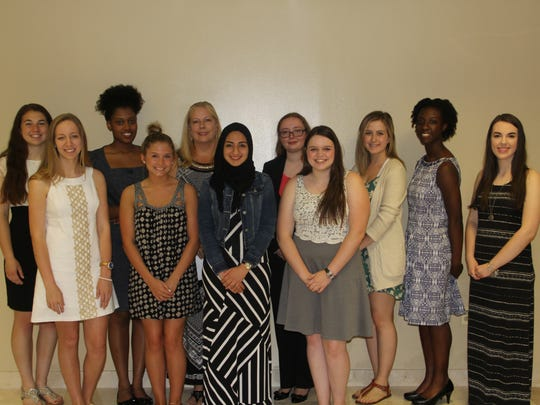 Back row (left to right): Melissa Ollerenshaw, Mycah