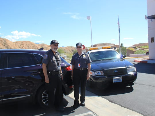 Russ and Jean Batthelia volunteer their time for the Mesquite Police Department.
