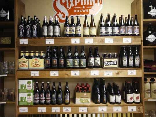 A variety of carft beer from all over the country is