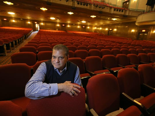 Arnie Rothschild, RBTL president, sits in the front of the house during a tour of the Auditorium Theatre on East Main Street in downtown Rochester on Thursday, June 16, 2016.