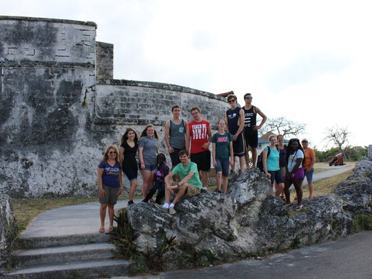Students and chaperones from Fond du Lac Christian School pose while visiting the Bahamas on a mission trip in April of 2016.