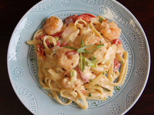 Citrus Ginger BellaVitano Shrimp Alfredo