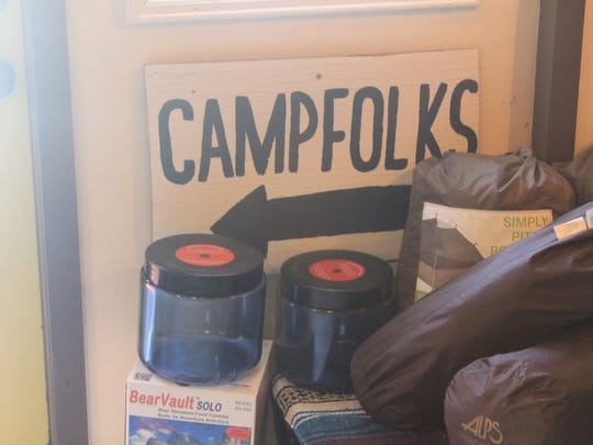 Camp Folks has bear canisters, which conceal food from