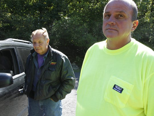 Kevin Rose and Clarence Palmer, seen here in 2013, believe that Eugene Palmer's body is somewhere in Harriman State Park.