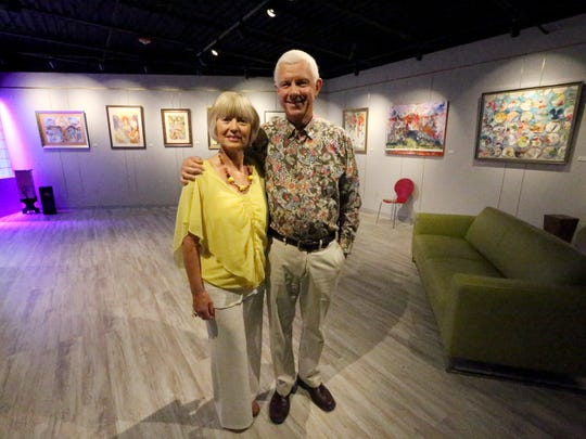 """Pat Olchefski-Winston and husband John """"Buddy"""" Winston own Star City Studio Productions at 120 W. Castellano. The new recording studio and art gallery also has a space for live performances."""