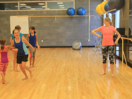 Emily Burton teaches dance for six weeks at the Mesquite Recreation Center.