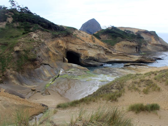 The Punchbowl is a notoriously dangerous spot at Cape Kiwanda on the Oregon Coast.