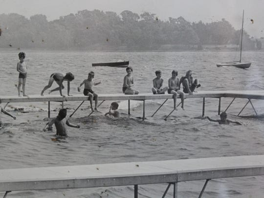 Campers enjoy swimming on the North Hero waterfront
