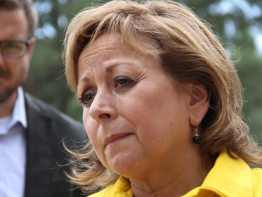 Gov. Susana Martinez speaks about the families who