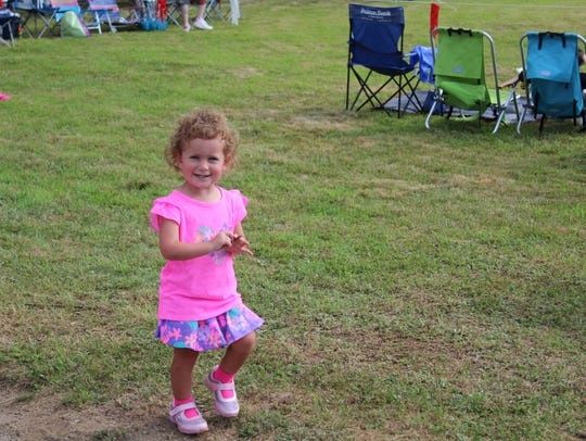 Hannah Dickinson celebrated her second birthday at
