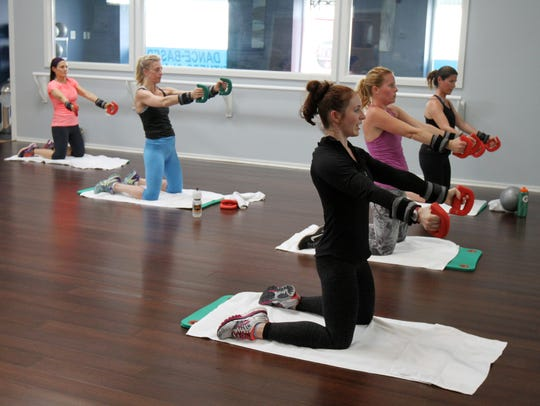 Katy Fraggos, co-owner of Perspirology, a workout business