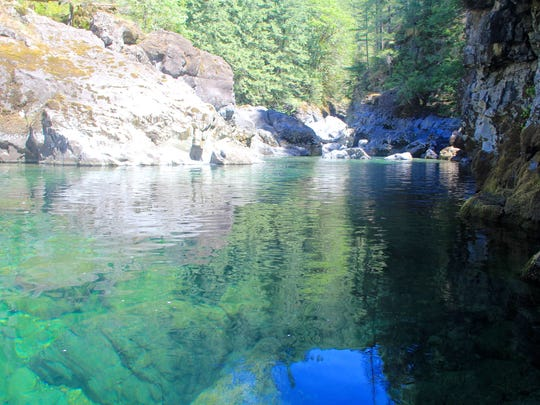 "The ""13 Pools"" area on the Little North Santiam offers lots of exploring for waterfalls and swimming holes off the Little North Santiam Trail."