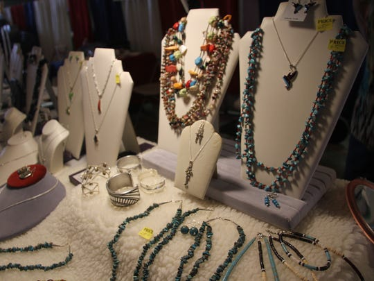 Ann Johnston custom-made her jewelry, which consists of necklaces, earrings and bracelets.