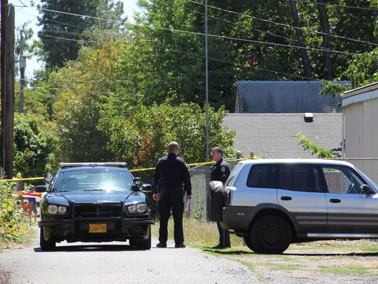 Police investigate a fatal shooting at a north Salem home Monday morning.