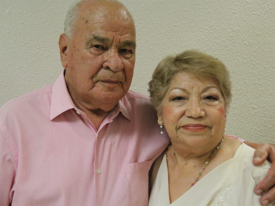 Ernesto Lozano, left, and Maritza Castillo