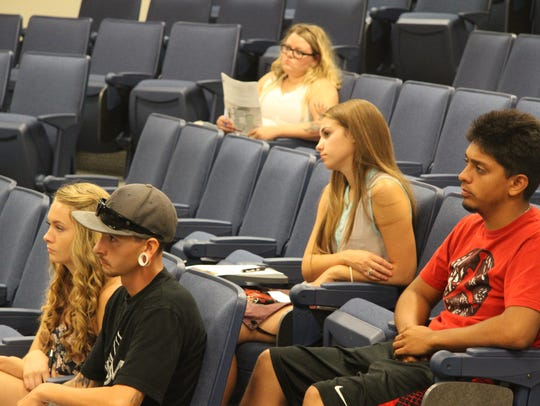 More than 30 students attended orientation at 1 p.m.