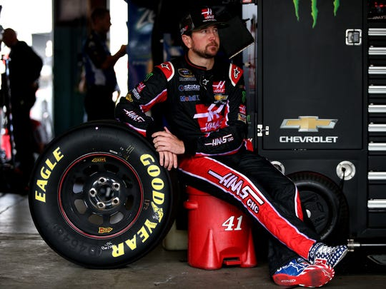 Kurt Busch sits in the garage during practice for the NASCAR Sprint Cup Series Cheez-It 355 at The Glen on Friday at Watkins Glen International.