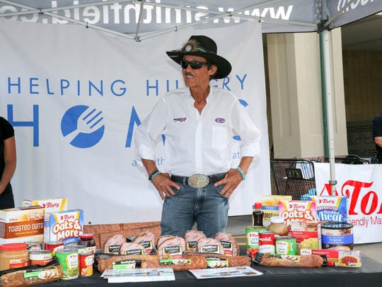 Richard Petty at Friday's event at Tops in Watkins