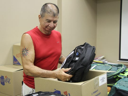 Volunteer Robert Trujilo picked up all of the boxes