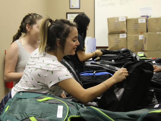 Some volunteers included students from Carlsbad High