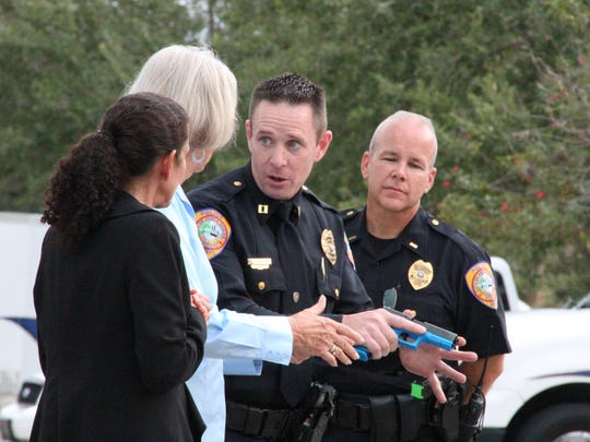From left, Accreditation Manager at Punta Gorda Police