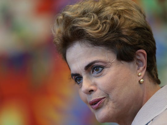 Brazilian President Dilma Rousseff speaks during a