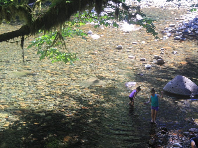 Swimming hole at Yukwah Campground on the South Santiam