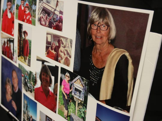 Images from the funeral of Mary Knowlton at the First