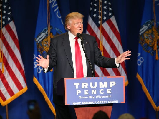 GOP presidential nominee Donald Trump speaks at a rally