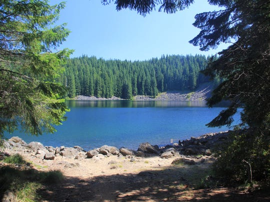Lower Erma Bell Lake in the Three Sisters Wilderness.