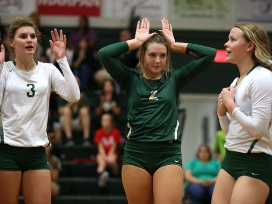 Lincoln's Callie Workman, center, signals to her coach during their home game against Wakulla on Tuesday.